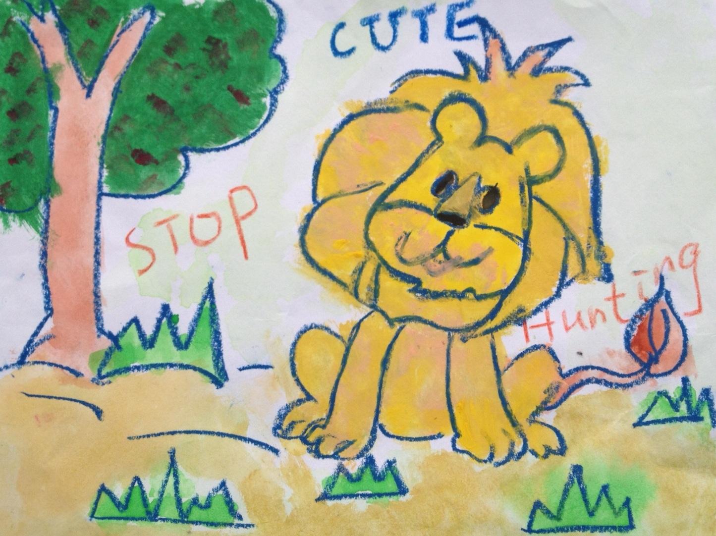 956b601b The Lion Kids - The Last Of The Lion ArtCreating Animal Awareness